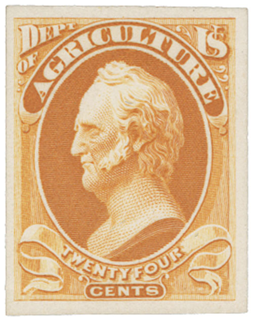 1873 24c yellow, agriculture