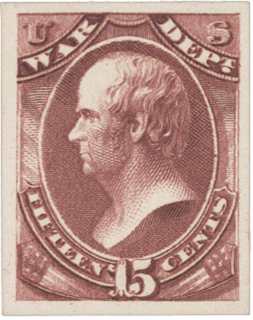 1873 15c rose, War