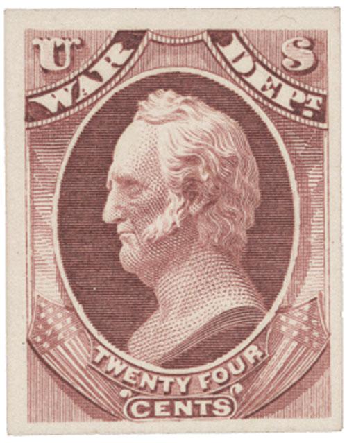 1873 24c rose, war