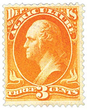 1879 3c yel, agriculture, soft paper