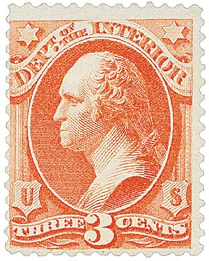 1879 3c Vermillion, Interior, Soft Paper