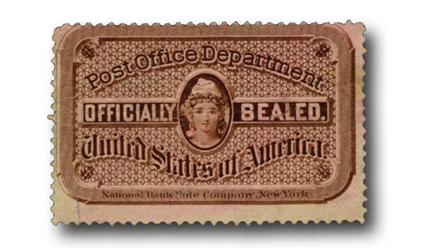 1877 brn,engr. silk paper, perf 12