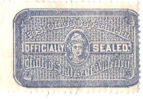 1907 blue, typo., perf 12