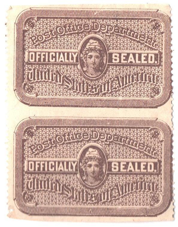 1889 bister brown, vert. pr imperf