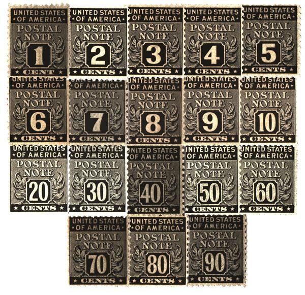 1945 Postal Notes 18V 1c-90c