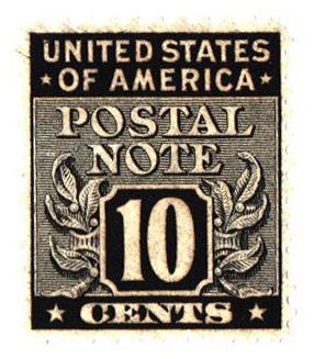 1945 10c Postal Note black