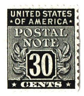 1945 30c Postal Note black
