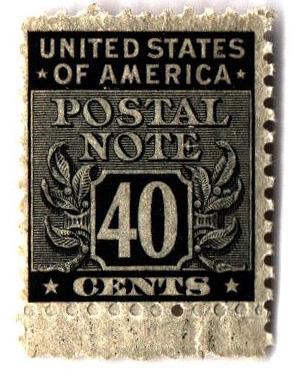 1945 40c Postal Note black
