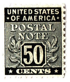 1945 50c Postal Note black