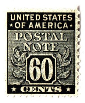 1945 60c Postal Note black