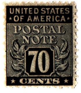 1945 70c Postal Note black