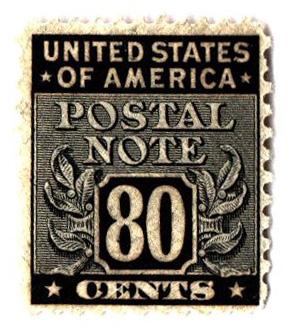 1945 80c Postal Note black