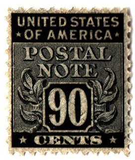 1945 90c Postal Note Black For Sale At Mystic Stamp Company