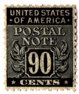1945 90c Postal Note black
