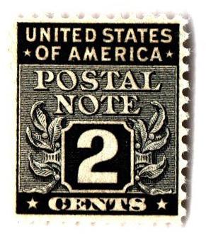 1945 2c Postal Note black