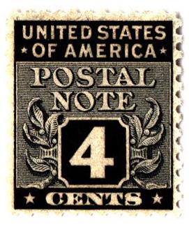 1945 4c Postal Note black