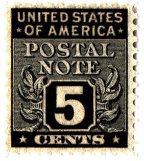 1945 5c Postal Note black