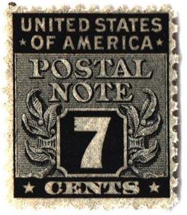 1945 7c Postal Note black