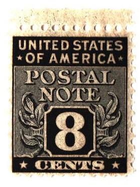 1945 8c Postal Note black