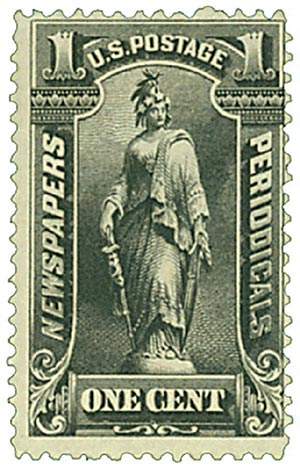 1895 1c blk, soft paper