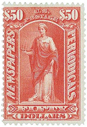 1897 $50 dl ros, soft paper, wmk.