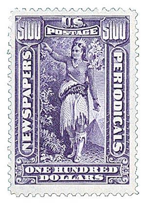 1896 $100 pur, soft paper, wmk.