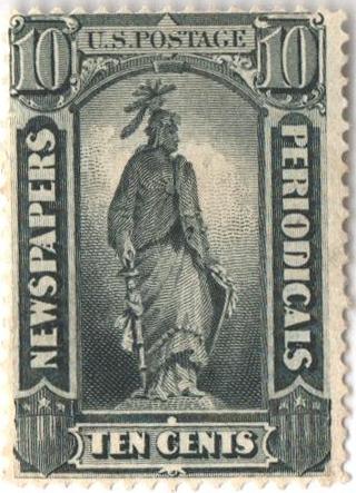 1875 10c blk, thin hard paper