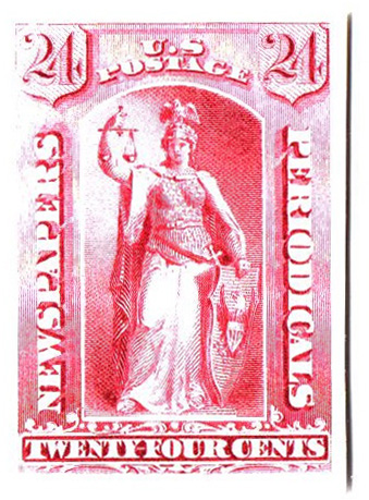 1875 24c rose
