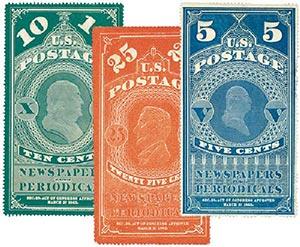 1865 U.S. Periodical Stamps