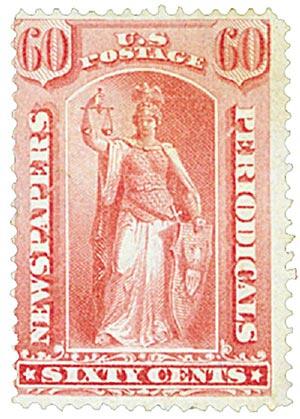 1875 60c ros, thin hard paper