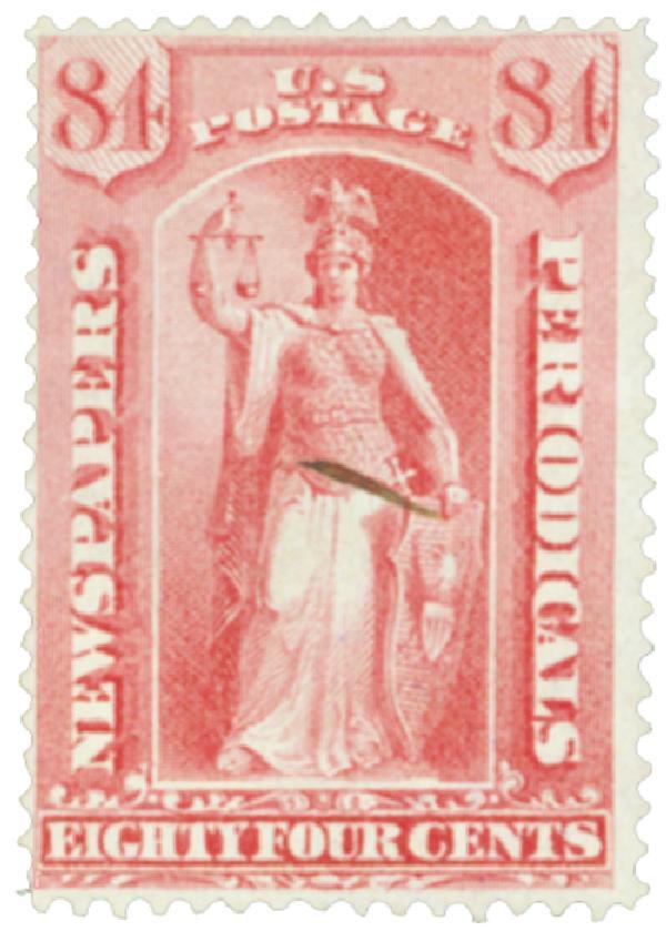 1875 84c ros, thin hard paper
