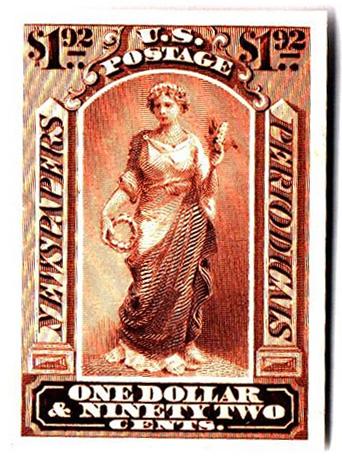 1875 $1.92 dk brown