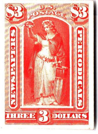1875 $3 vermilion