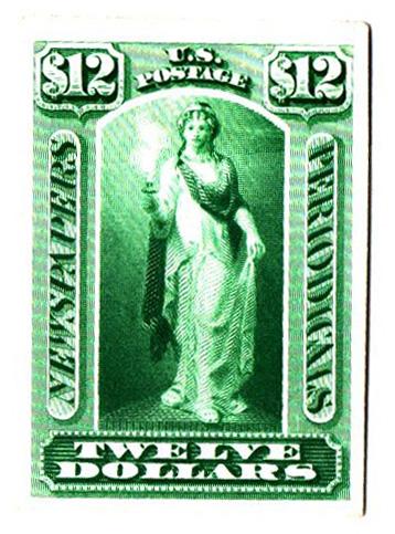 1875 $12 blue green