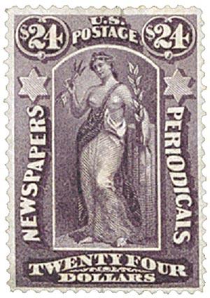 1875 $24 dk gray violet