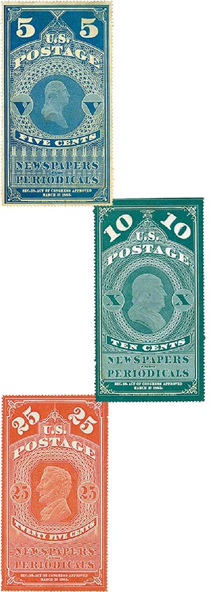 1875 U.S. Periodical Stamps