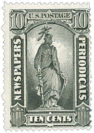 1879 10c blk, soft paper