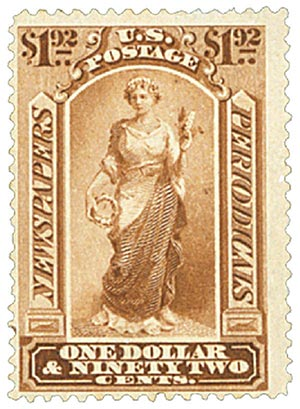 1879 $1.92 Pale Brown, Soft Paper