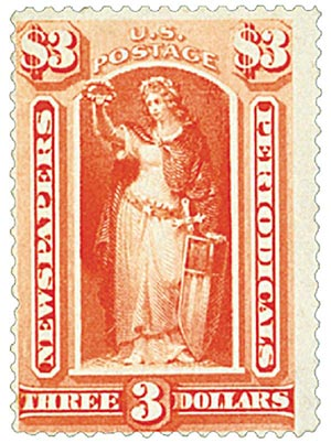 1879 $3 red ver, soft paper