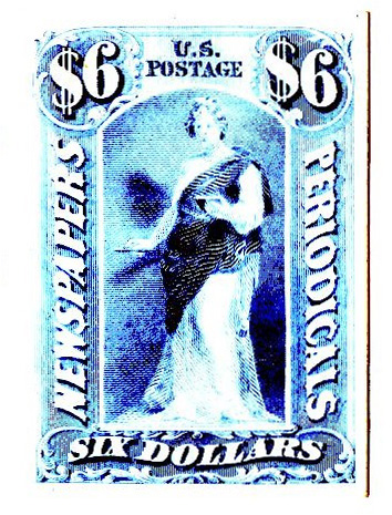 1879 $6 blue