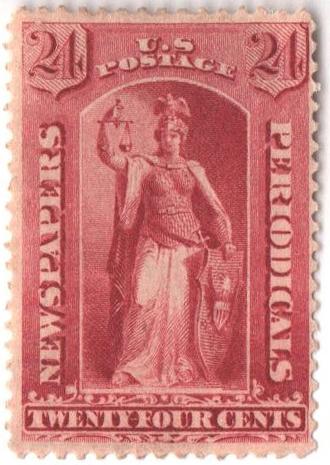 1885 24c car, soft paper