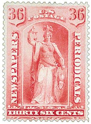 1885 36c car, soft paper