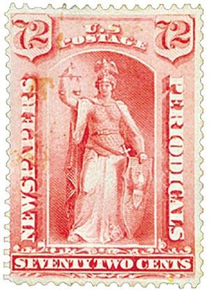 1885 72c car, soft paper