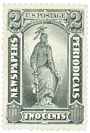 1875 2c blk, thin hard paper