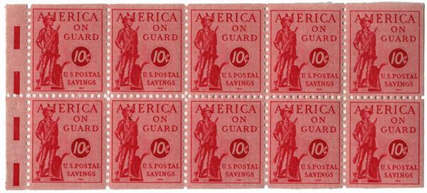 1941 10¢ Postal Savings booklet stamp, rose