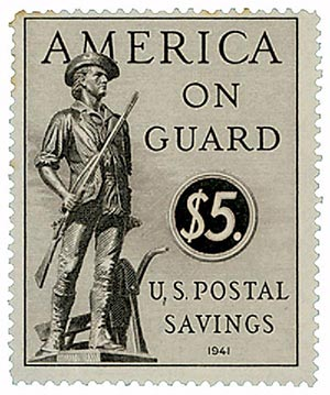 1941 $15 Postal Savings, sepia, unwatermarked