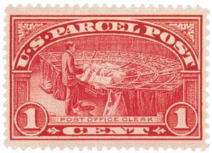 1912-13 1c Parcel Post Stamp
