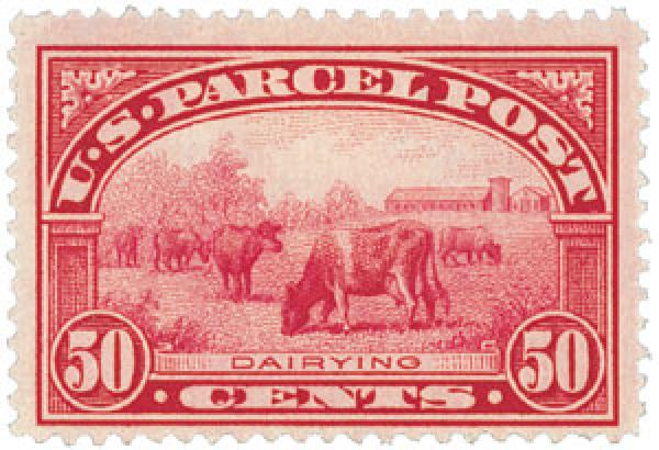 1913 50c Dairying Parcel Post