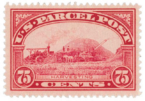 1913 75c Harvesting Parcel Post