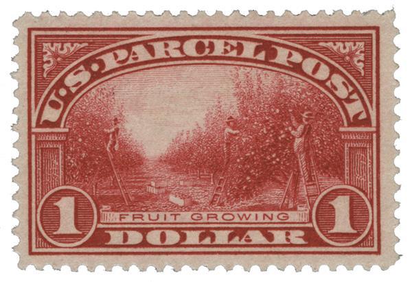 1913 $1 Fruit Growing Parcel Post stamp
